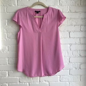 J crew Short sleeve Lavender Blouse medium 6